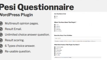 Download Pesi Questionnaire Multiresult Survey and Quiz WordPress Plugin - Free Wordpress Plugin