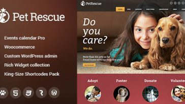 Download Pet Rescue - Animals and Shelter Charity WP Theme Free