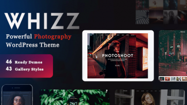 Download Photography Whizz - Photography WordPress for Photography Free