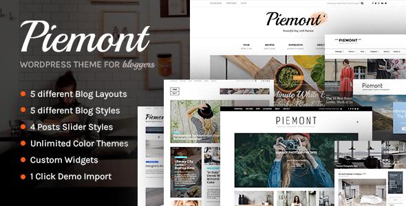 Download Piemont - Premium Responsive WordPress Blog Theme Free