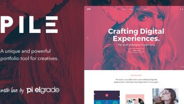 Download PILE - An Uncoventional WordPress Portfolio Theme Free