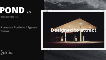 Download Pond v.4.4 - Creative Portfolio / Agency WordPress Theme Free