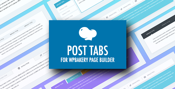 Download Post Tabs for WPBakery Page Builder (Visual Composer)  - Free Wordpress Plugin