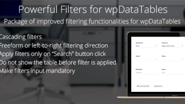 Download Powerful Filters for wpDataTables Cascade Filter for WordPress Tables - Free Wordpress Plugin