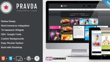Download Pravda - Retina Responsive WordPress Blog Theme Free