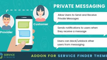 Download Private Messaging add-on for service finder theme  - Free Wordpress Plugin