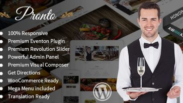 Download Pronto v.1.4.4 - Restaurant & Event Wordpress Theme Free