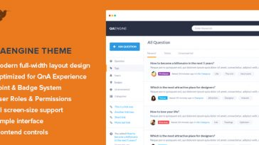 Download QAEngine - Question and Answer WordPress Theme Free