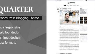 Download Quarter - Responsive WordPress Blogging Theme Free