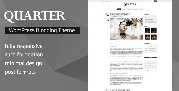 Download Quarter - Responsive WordPress Blogging Theme Free