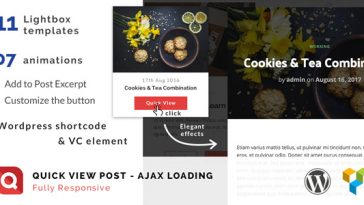 Download Quick View Lightbox for WordPress post - Free Wordpress Plugin