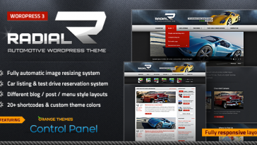 Download Radial - Premium Automotive & Tech WordPress Theme Free