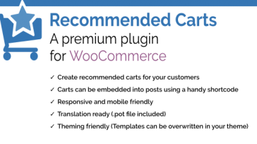 Download Recommended Carts for WooCommerce  - Free Wordpress Plugin