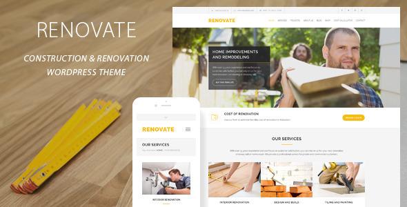 Download Renovate - Construction Renovation WordPress Theme Free