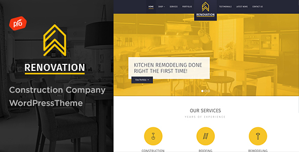 Download Renovation v.3.1 – Construction Company Theme Free