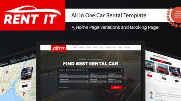 Download Rentit - Car / Bike / Vehicle Rental WordPress Theme Free