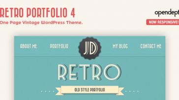 Download Retro Portfolio - One Page Vintage WordPress Theme Free