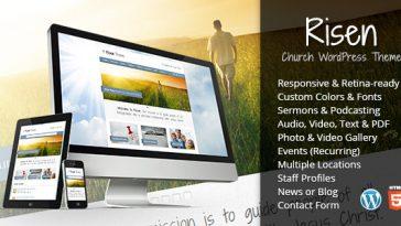 Download Risen - Church WordPress Theme (Responsive) Free