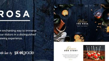 Download ROSA - An Exquisite Restaurant WordPress Theme Free