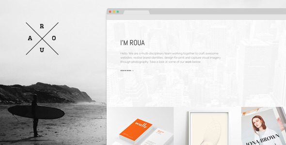 Download ROUA - Hipster Portfolio & Blogging WP Theme Free
