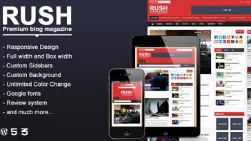 Download Rush v.1.0 - WordPress Blog & Magazine Theme Free