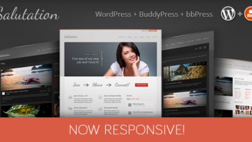 Download Salutation - Responsive WordPress + BuddyPress Theme Free