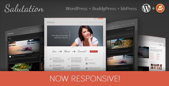 Download Salutation - Responsive WordPress + BuddyPress Theme Free