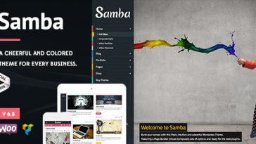 Download Samba - Colored WordPress Theme Free