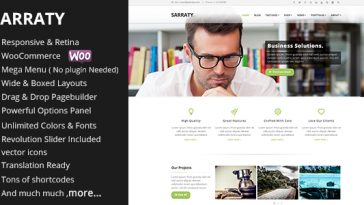 Download Sarraty Business - Business Theme Free