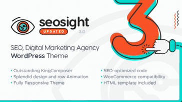 Download Seosight v.3.1 - SEO, Digital Marketing Agency WP Theme with Shop Free