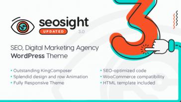 Download Seosight v.3.1 - SEO, Digital Marketing Agency WP Theme with Shop Free