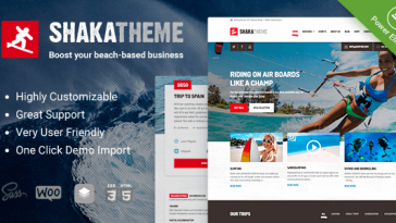 Download Shaka - A beach business WordPress theme for water sport and activity schools. Surf, kayak and more. Free