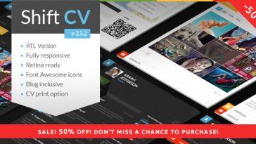 Download ShiftCV - Blog Resume Portfolio WordPress Free