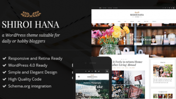 Download Shiroi Hana - An Elegant Blogging Theme Free