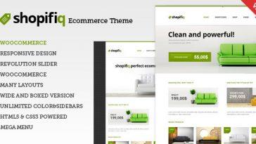 Download Shopifiq v.3.3. - Responsive WordPress WooCommerce Theme Free