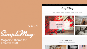 Download SimpleMag - Magazine theme for creative stuff Free