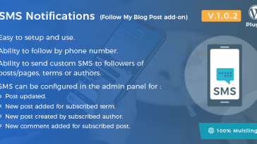 Download SMS Notifications Follow My Blog Post add-on - Free Wordpress Plugin