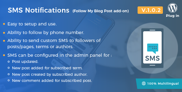 Download SMS Notifications Follow My Blog Post add-on - Free Wordpress Plugin