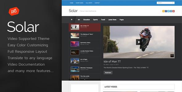Download Solar v.4.3 - Video WordPress Theme Free