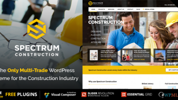 Download Spectrum v.3.0.9 - Multi-Trade Construction Business Theme Free