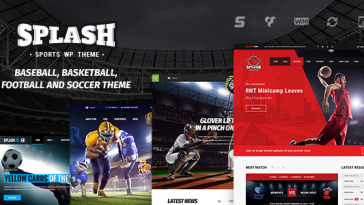 Download Splash Sport - WordPress Sports Theme for Basketball, Football, Soccer and Baseball Clubs Free