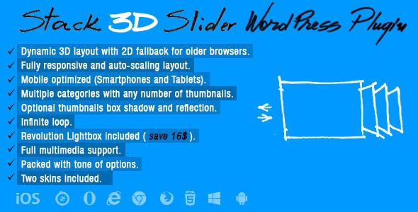 Download Stack 3D Slider Wordpress Plugin  - Free Wordpress Plugin