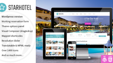 Download Starhotel - Hotel WordPress Theme Free