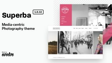 Download Superba - Media-centric Photography WordPress Theme Free
