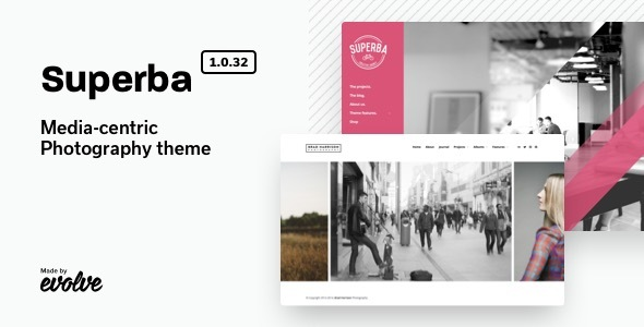 Download Superba  – Media-centric Photography WordPress Theme Free