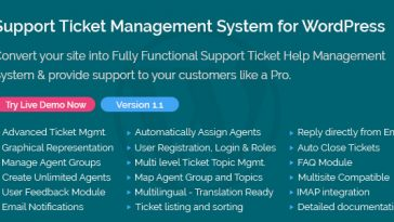 Download Support Ticket Management System for WordPress  - Free Wordpress Plugin