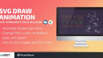 Download SVG Draw Animation for WPBakery Page Builder (formerly Visual Composer)  - Free Wordpress Plugin