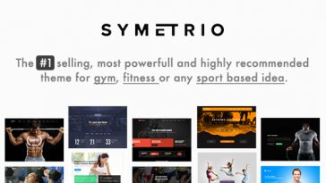 Download Symetrio - Gym & Fitness WordPress Theme Free