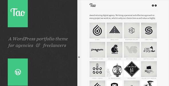 Download Tao - a modern & responsive 3D WordPress portfolio theme with beautiful transitions and animations Free