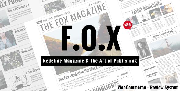 Download The Fox - Modern Magazine WordPress Theme Free
